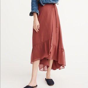Abercrombie Long Wrap Skirt